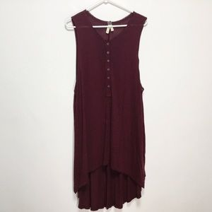 We The Free Red Hem High-Lo Dress